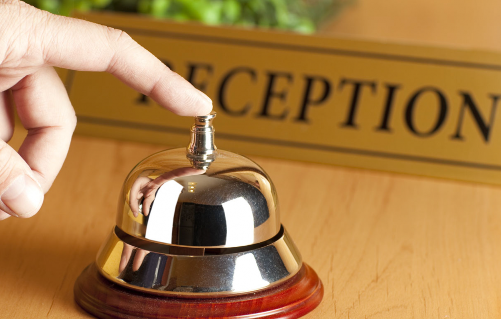bell on a reception desk